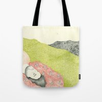 hollywood Tote Bags featuring Hollywood by Jules Magistry