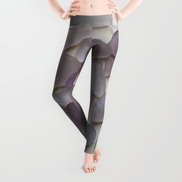Genuine Purple Sea Glass Collection Leggings