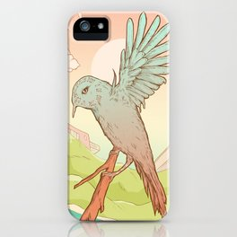 Clockhead (or the Contemplation of Time) iPhone Case