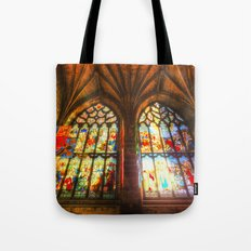 Cathedral Stained Glass Window Tote Bag