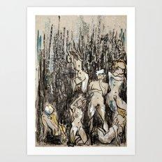 Where/and/Who Art Print