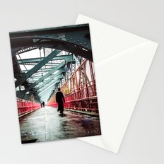 New York City Williamsburg Bridge in the Rain Stationery Cards