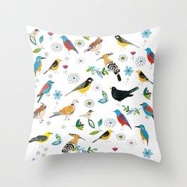 Polish birds Throw Pillow