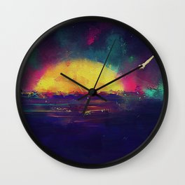 Wish Upon a Shooting Star Wall Clock