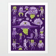 Wow! Aliens!  Art Print