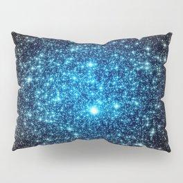GaLaXY Sparkle Stars :  Blue Pop of Color Pillow Sham