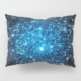 GaLaXY Sparkle Stars :  Blue Pop of Color Pillow Sham