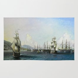 Battle of ships Rug
