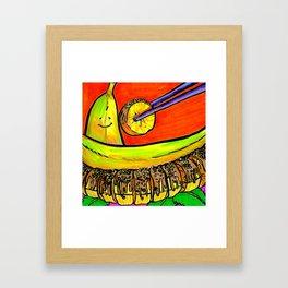 Banana Sushi Framed Art Print