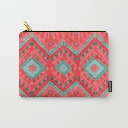 itzel - watermelon + teal Carry-All Pouch