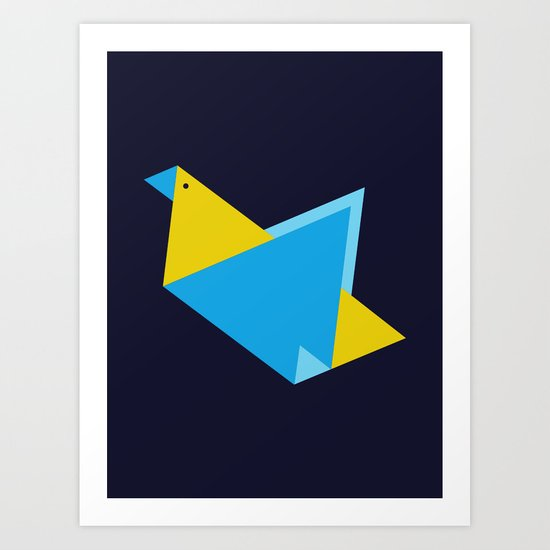 Triangle Bird Art Print