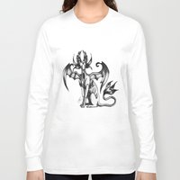 sphynx Long Sleeve T-shirts featuring Sphynx by STiCK MONSTER iNK