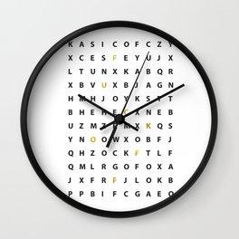 Wanna Hear A Secret Wall Clock