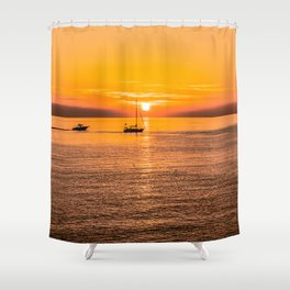 Finish of the day Shower Curtain
