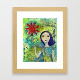 Invisible Crown by patsy paterno Framed Art Print