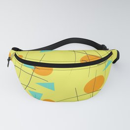 Fivties Design yellow geometric Fanny Pack