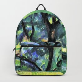"""Paul Cezanne """"Forest"""" c.1890 Backpack"""