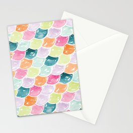 Mermaid Scales | Orange, Green and Pink Stationery Cards