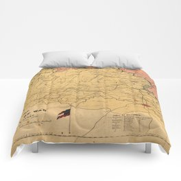 Map of the Seat of War, Virginia & Maryland (1861) Comforters