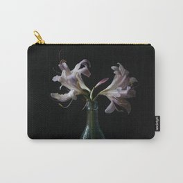 Resurrection Lily in a Vintage Bottle Carry-All Pouch