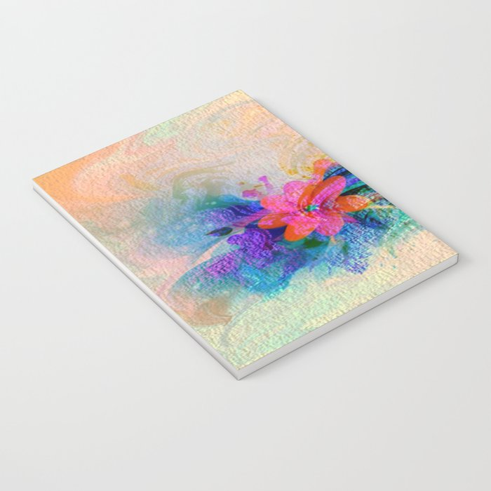 Soft Colorful Pastel Shaded Floral Abstract Notebook