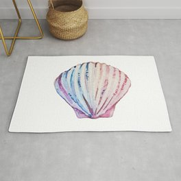 Rainbow ombre clam Rug