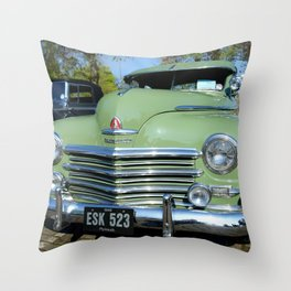 1948 Plymouth Delux Throw Pillow