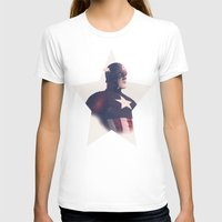 avenger T-shirts featuring The First Avenger by andbloom