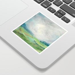 Blue Shaded Mountains Sticker