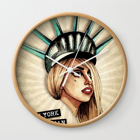 New York Woman Wall Clock