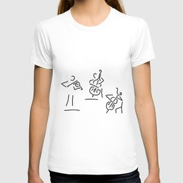 violinist cellist string player contrabass T-shirt