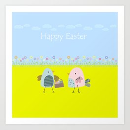 Happy Easter Art Print