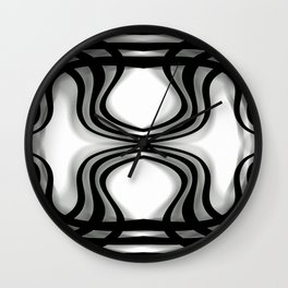Nobel Squiggly Lines Wall Clock