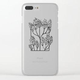 Leaf-like Sumac Clear iPhone Case