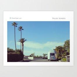 Pantone: Palos Verdes Art Print