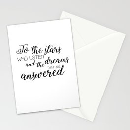 to the stars who listen (acomaf) Stationery Cards