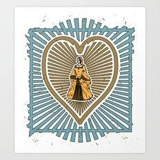 Queen of hearts not heads Art Print