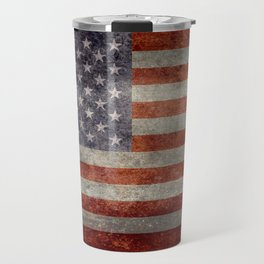 USA flag - Retro vintage Banner Travel Mug