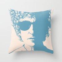 dylan Throw Pillows featuring Dylan by Jeroen van de Ruit