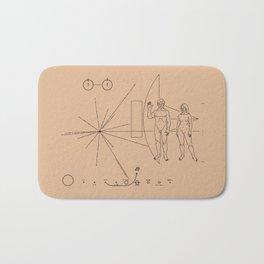 Nasa Pioneer Space Craft Plaque Alien Message Bath Mat
