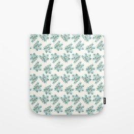 Gumnuts, Blue Green Terracotta on Cream Tote Bag