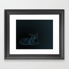 Biscut the Tabby Cat Framed Art Print