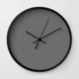 Claymore 7 Pattern - Medium Grey Wall Clock