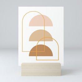 Half Moon Geometric Arch Stack Line Art Drawing Abstract Minimal Lines Design Mini Art Print