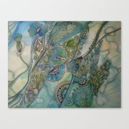 Ocean Botanical Canvas Print