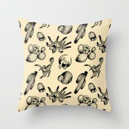 Nocturnal Desert Pattern Throw Pillow