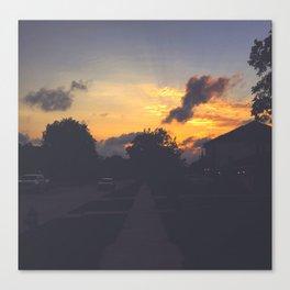 Merry Sunset Canvas Print