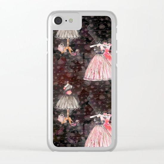 Black dress fashion #5 Clear iPhone Case