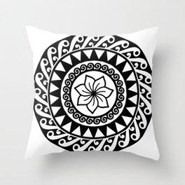 Hibiscus Mandala Throw Pillow