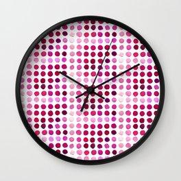 Pink Pink Polka Pink Wall Clock